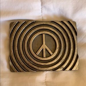 Accessories - Peace belt buckle